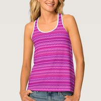 Colorful wavy patterns tank top