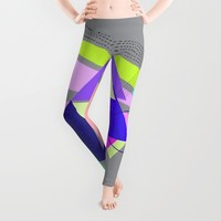 lines and triangles Leggings by Haroulita