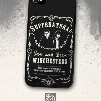 iPhone, iPod, iPad, Samsung Galaxy, Nexus caseSupernatural, Sam and Dean Winchesters (Jack Daniels label inspired)