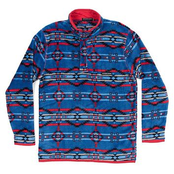 Harbuck Fleece 1/4 Zip Pullover in Navy and Red by Southern Marsh - FINAL SALE