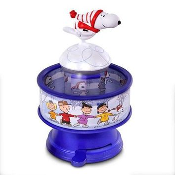 The Peanuts® Gang Snoopy Skates! Musical Ornament With Light and Motion