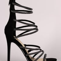 Liliana Rhinestone Encrusted Strappy Stiletto Heel