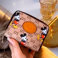 Free shipping / GUCCI x DISNEY joint mini women's versatile coin purse card holder