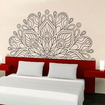 New Arrival India Buddha God OM Symnol Art  Namaste Mandala Yoga Lotus Wall Sticker Meditation Vinyl Interio Bed Room Home Decor