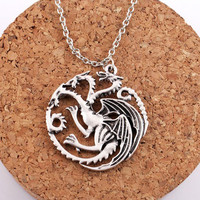 Game Of Thrones Dragon Badge Necklace