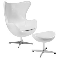 ZB-EGG-CH-OTT Reception Furniture - Chair and Ottoman Sets
