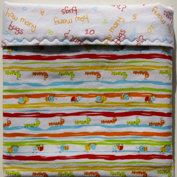Flannel baby blanket boy swaddling blanket girl bug nursery bedding set new baby gift gender neutral baby blanket baby quilt toddler blanket
