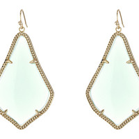 Kendra Scott Alexandra Earring Gold Chalcedony - Zappos.com Free Shipping BOTH Ways