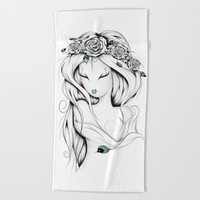 Poetic Gypsy Beach Towel by LouJah
