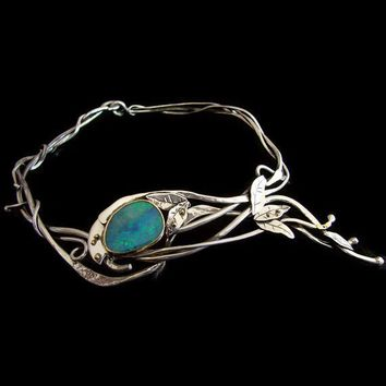 Opal Silver & Gold Vine Choker made to order by aboutjewelry