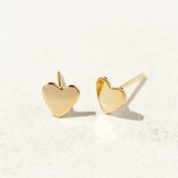 Brooklyn Charm Plated Heart Stud Earring