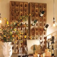 French Wine Bottle Riddling Rack