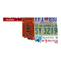 Oklahoma License Plate wall decal
