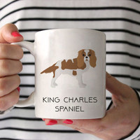 King Charles Spaniel Coffee Mug - King Charles Spaniel Ceramic Mug  - Dog Mug - King Charles Spaniel Lover Gift - Cavalier Coffee Mug