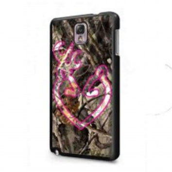 Love Browning Deer Camo Pink for samsung galaxy note 3 case