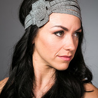wide tweed headband, winter headband, headbands for women