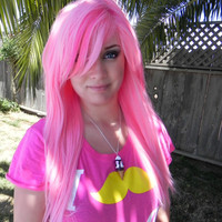 HAPPY HOLIDAYS SALE / Candy Lolita / Pink and Hot Pink / Long Straight Layered Wig