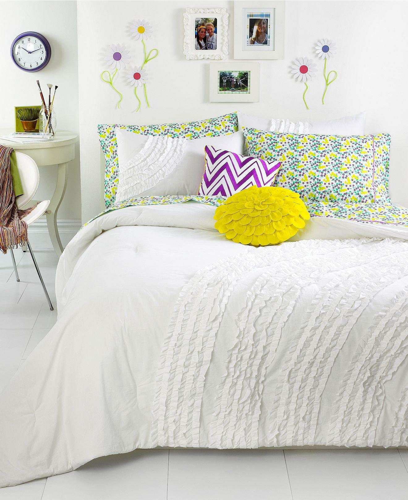 teen vogue bedding ella ruffle comforter from macys. Black Bedroom Furniture Sets. Home Design Ideas