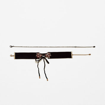 2-PACK FRONT BOW CHOKER