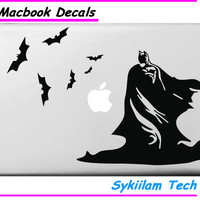 Superman Batman and Bats Cartoon Sticker for Apple Macbook Skin Air 11 13 Pro 13 15 17 Retina Laptop Car Wall Vinyl Logo Decal
