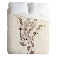 Belle13 The Intellectual Giraffe Duvet Cover