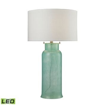 D2654-LED Glass Bottle LED Table Lamp In Seafoam Green - Free Shipping!