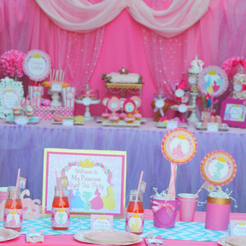 PRINCESS Birthday Party - COMPLETE - Disney Princess Party - Pink Princess Party - Girls Birthday - Ladies or Woman - Bridal Shower