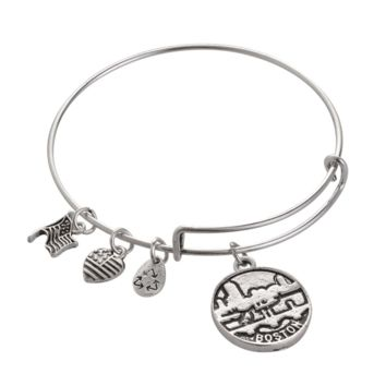 Alex and Ani style BOSTON pendant charm bracelet,a perfect gift !