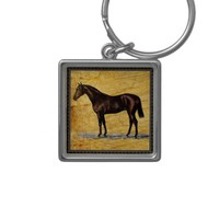 Brown Horse Keychain