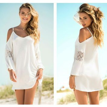 4616 Dress with Cold Shoulder Trend