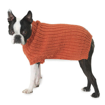 Morgan's Fisherman Orange Dog Sweater