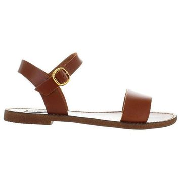 ESBONIG Steve Madden Donddi - Tan Leather Sandal