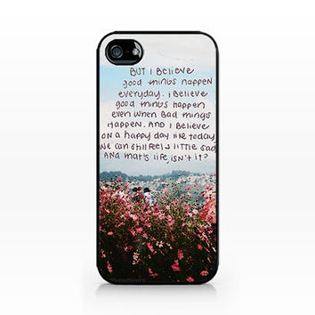 AWC-224-Floral Typo- Hard Plastic Case for iPhone 4/4S, 5/5S, Samsung s3/s4