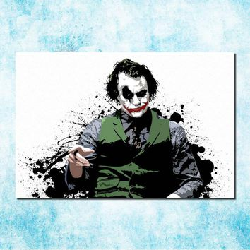Banksy Batman Joker Arkham City Origin Art Silk Canvas Poster Print 13x20 24x36inches Game Wall Pictures (more)-3