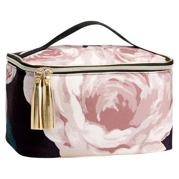 The Emily & Meritt Floral Makeup Travel Case