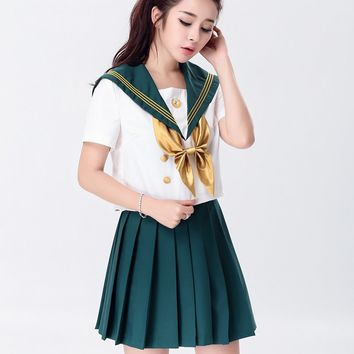 MOONIGHT Sexy Women Student Uniform England Style Naughty School Girl Costume Full Outfit Halloween Top+Skirt