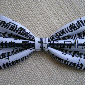 Concert-Hair bow, Music Notes,Hair bows for girls, cute hair bows out of cotton fabric, sea side hair bow,bows for weddings