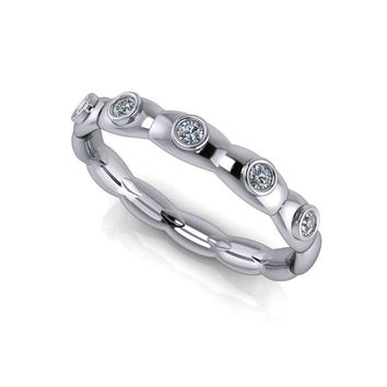 Diamond Wedding Band  - Stacking Band - Insieme™ Bridal Stackables - .11 CTW