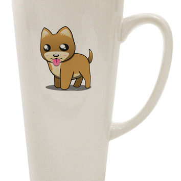 Kawaii Standing Puppy 16 Ounce Conical Latte Coffee Mug