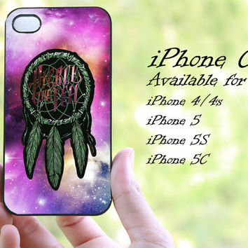 dream catcher pierce the veil on galaxy design iphone case for iphone 4 case, iphone 4s case, iphone 5 case, iphone 5s case, iphone 5c case