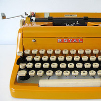 Three Potato Four - 1950's Royal Typewriter (Restored) - Custom Orange