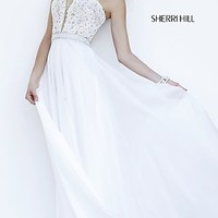 Long Strapless Sweetheart Formal Gown by Sherri Hill