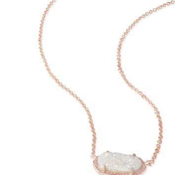 Kendra Scott Elisa Iridescent Drusy Rose Gold Necklace