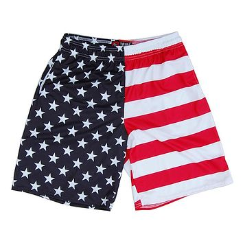 American Flag Jacks Sublimated Lacrosse Shorts