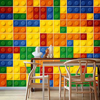 Bricks effect for Tiles backsplash Stickers (Pack with 49)