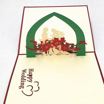 Happy Wedding Handmade 3D Pop Up Greeting Cards