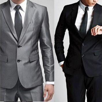 2015 High Quality Fashion Men Suit Brand ! Men's Blazer Business Slim Clothing Suit And Pants Top Selling#ZCY299 [8833965388]