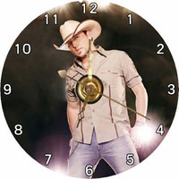 BRAND NEW Country Singer & Guitarist - Jason Aldean CD Clock / Includes Black Plastic Stand