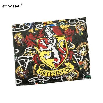 FVIP New Arrival Wallet Harry Potter Gryffindor/Attack On Titan/Wonder Woman/Pirates/Miku With Card Holder And Coin Purse Bag