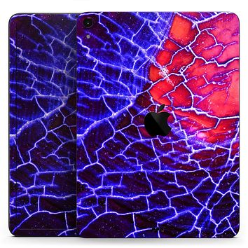 "Blue Red Dragon Vein Agate - Full Body Skin Decal for the Apple iPad Pro 12.9"", 11"", 10.5"", 9.7"", Air or Mini (All Models Available)"